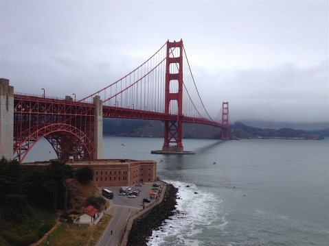 Fort Point and the Golden Gate Bridge