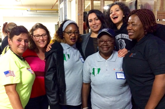 Nigerian tradeswomen activists and American tradeswomen friends