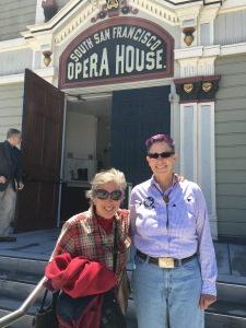 With my friend Huli at the restored Bayview Opera House