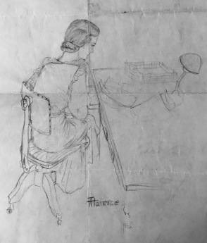Flo as drawn by her sister Ruth