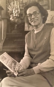My mother, Florence Martin, with the chapbook