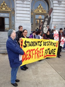 Protesting student debt