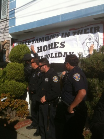 Cops guarding Josephine Colbert's home from Occupiers