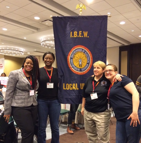 Sister electricians at the Women Building the Nation conference
