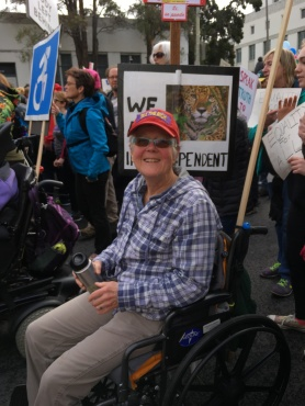 Marg at the Women's March with disability activists